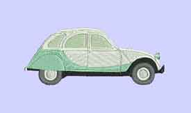 2CV Car Machine Embroidery Design
