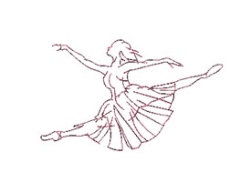 Ballet Dancers Outline 2 Machine Embroidery Designs