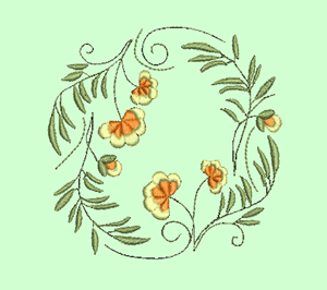 Circles of Flowers Machine Embroidery Designs