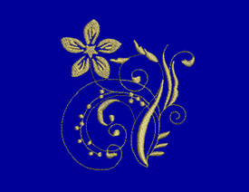 Gold Flowers Machine Embroidery Designs