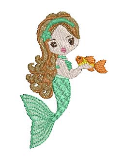 Mermaids Set 2 Machine Embroidery Designs