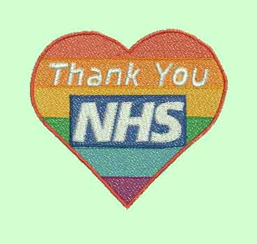 NHS Stay Safe Machine Embroidery Designs