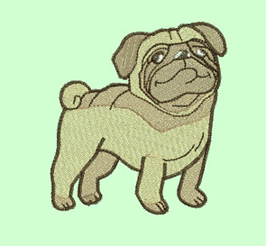 Pug Machine Embroidery Designs