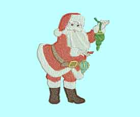 Santa Christmas Day Machine Embroidery Designs
