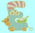 Baby ABC Alphabet Machine Embroidery Designs