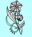 Flowers Red and Black Machine Embroidery Designs
