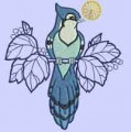 Blue Jay Birds Machine Embroidery Designs