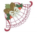 Christmas Lace Corners Machine Embroidery Designs