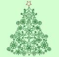 Christmas Trees Green Machine Embroidery Designs