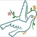 Dove Outlines Machine Embroidery Designs