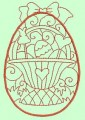 Easter Eggs Redwork Machine Embroidery Designs
