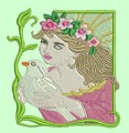 Fairy and Dove One Machine Embroidery Design