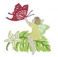 Butterfly Fairy Machine Embroidery Design