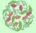 Flower Circles Machine Embroidery Designs