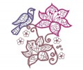 Flowers and Birds Machine Embroidery Designs
