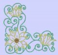 Flower Corners Machine Embroidery Designs