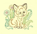 Fox Outline Machine Embroidery Designs