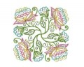 Jacobean Floral Quilting Blocks Machine Embroidery Designs