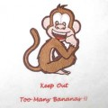 Monkey Keep Out Machine Embroidery Design