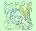 Rooster Blocks Machine Embroidery Designs
