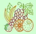 Tropical Fruit Ouline Machine Embroidery Designs