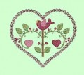 Valentine Birds Machine Embroidery Designs